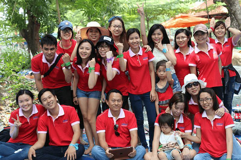 Dịch vụ in áo nhóm đẹp đi dã ngoại tại TPHCM