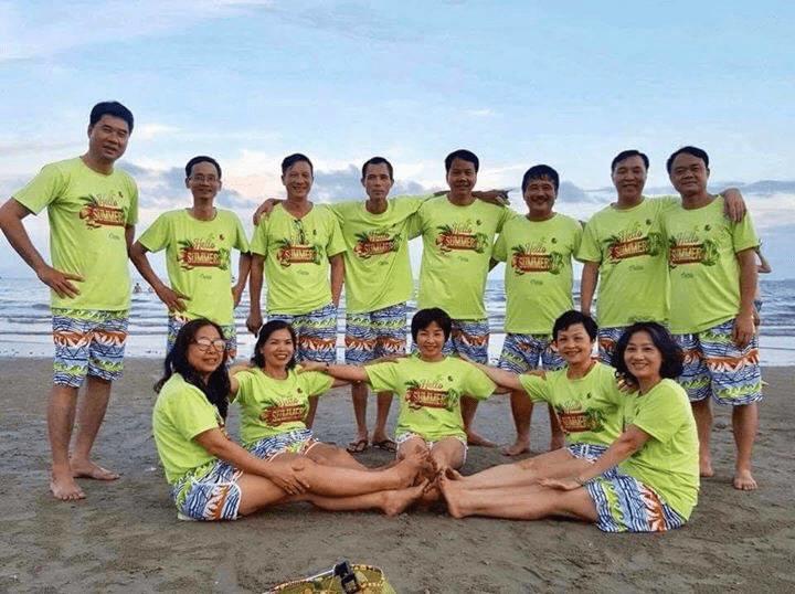 Dịch vụ in áo thun nhóm đi biển tại TPHCM
